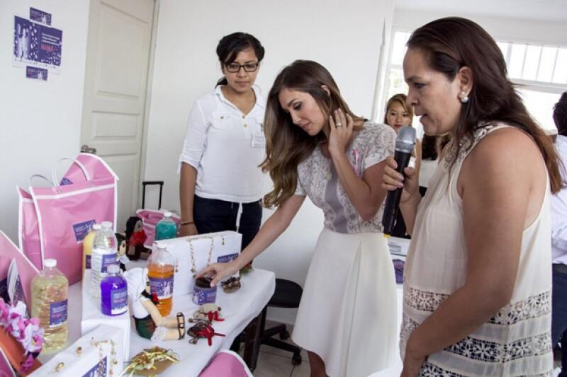 Las mujeres chiapanecas le mostraron todo lo que realizan dentro del Centro de Desarrollo.