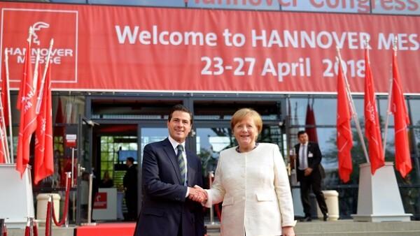 Inauguraci�n de la feria de Hannover 2018