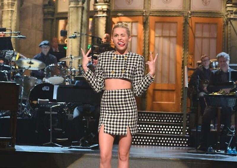Se generó expectativa alrededor de la actuación de Miley Cyrus en el conocido programa estadounidense.