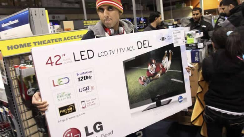 Los clientes se han decantado en especial por los productos electrónicos, como los televisores.