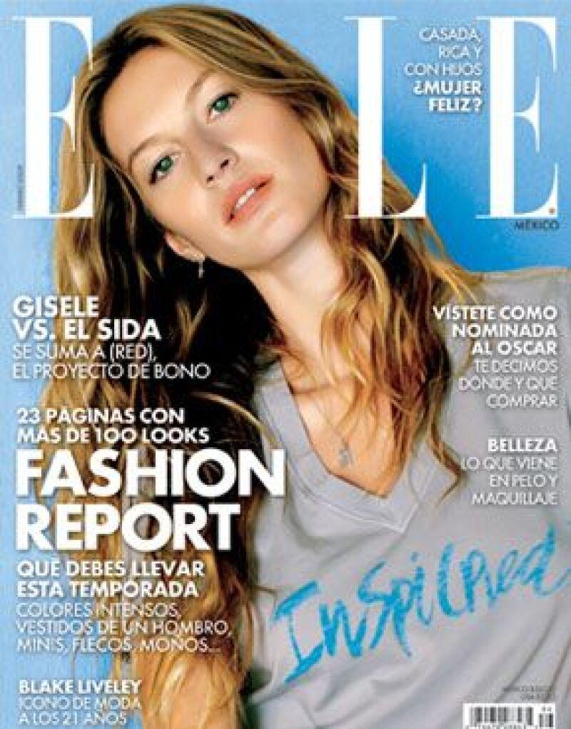 La top model y la revista se unieron con la marca (RED) para poner su granito de arena en la lucha contra el SIDA en África.