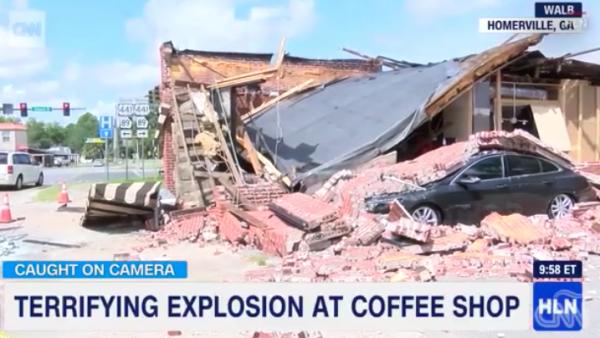 Una perforación en la tubería de gas hizo explotar una cafetería en Georgia