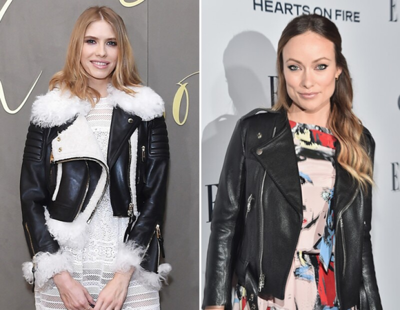 Invierte en una buena chamarra de piel como Elena Perminova y Olivia Wilde.