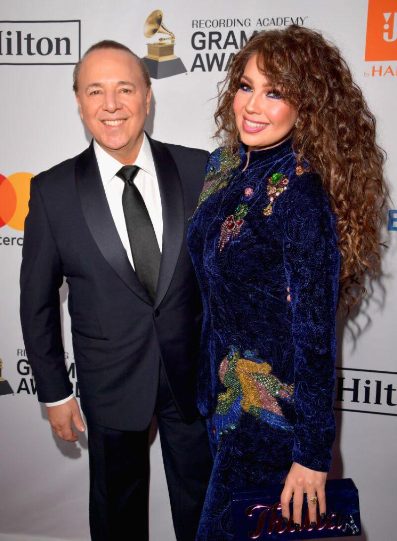Thalía y Tommy Mottola llevan casados 18 años.