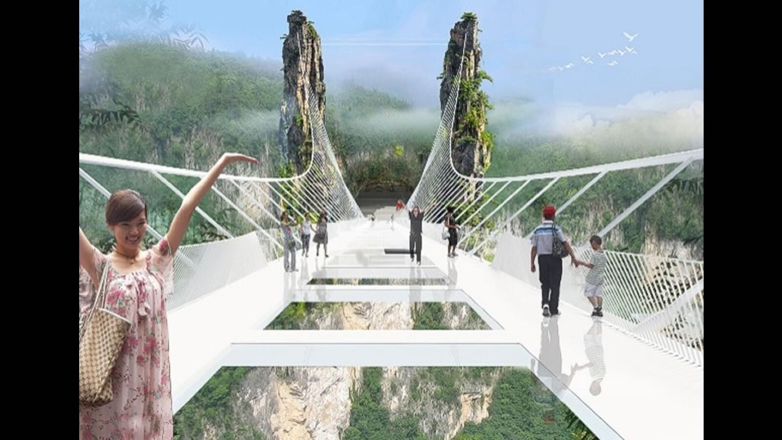 Puente piso cristal Zhangjiajie