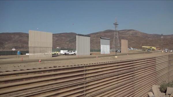 Así se ven los ocho prototipos del muro de Trump en la frontera con México
