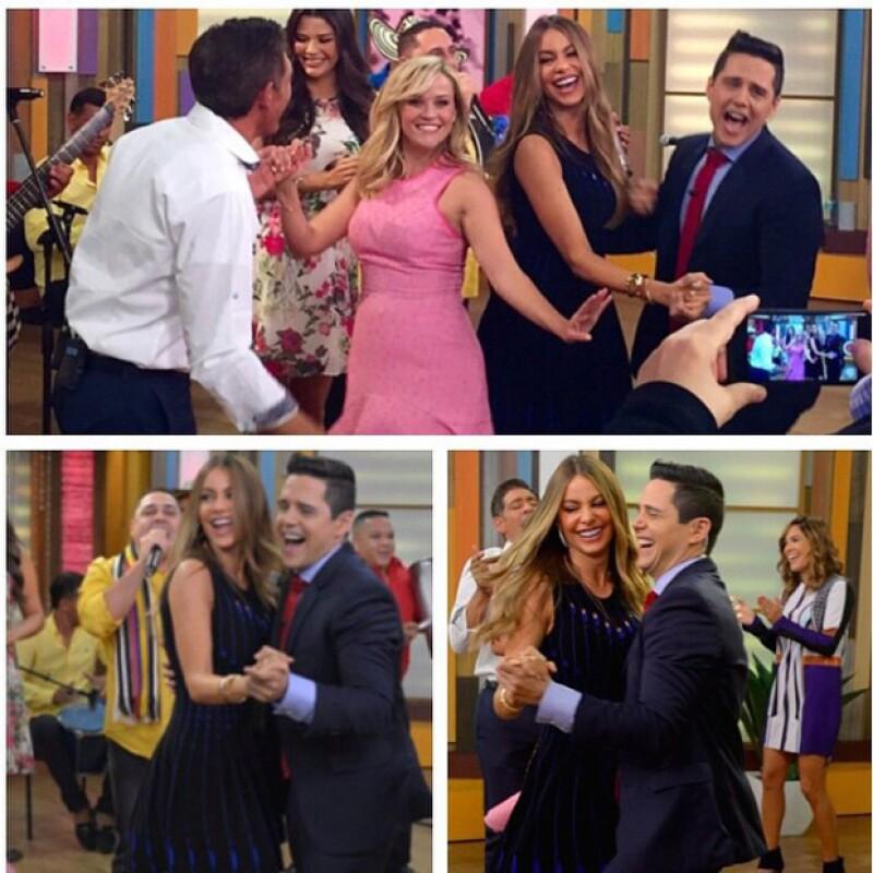 Reese puso a prueba sus pasos de baile con un fragmento de cumbia colombiana durante el programa `Despierta América´.