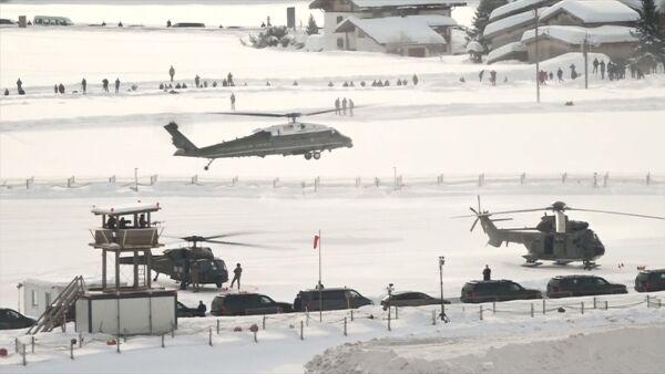 Trump llega a Davos para participar por primera vez en el Foro Económico Mundial