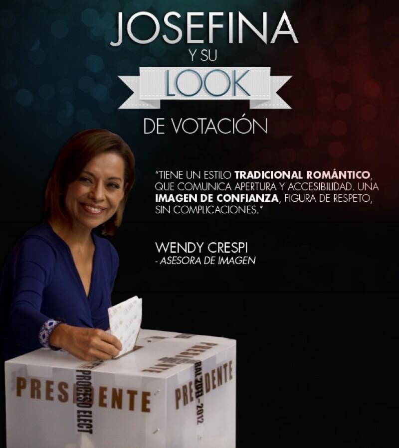 Esta mañana la candidata a la presidencia asistió a votar en compañía de su familia. Expertas en imagen y estilo opinan acerca de su look.