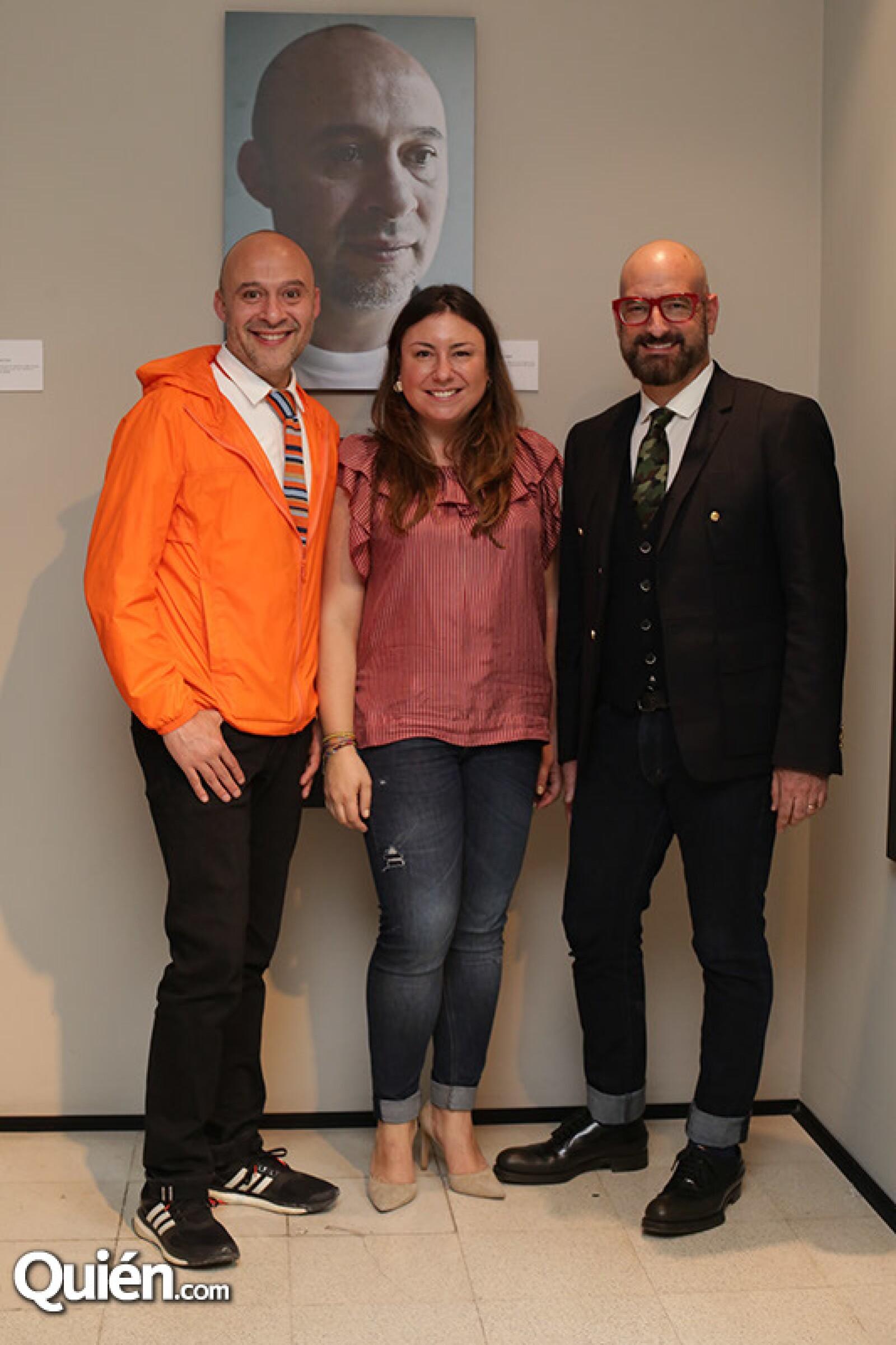 Alfredo Flores,Elizabeth Gómez y Germán Velasco