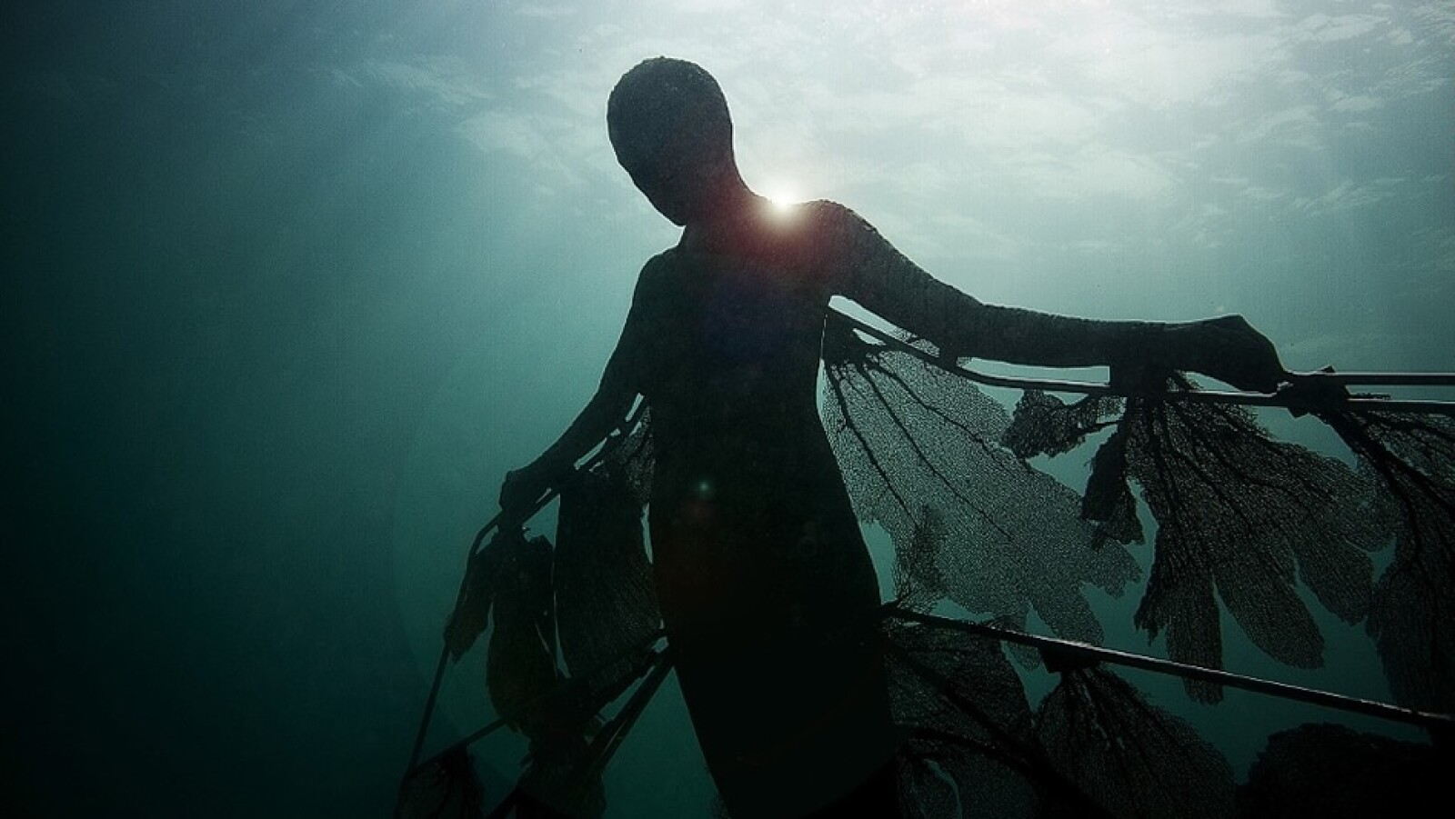 La sensación de ligereza bajo el agua permite que los visitantes recorran el museo con facilidad, al examinar las esculturas desde cada punto de vista