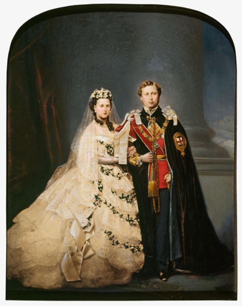 Boda Eduardo VII y Alexandra, 1863.