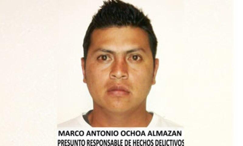 Ochoa Almazán fue detenido en las calles de la colonia El Mirador, en la delegación Tlalpan. (Foto: Cortesía PGJDF )