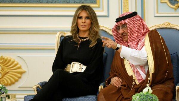 Melania en Arabia