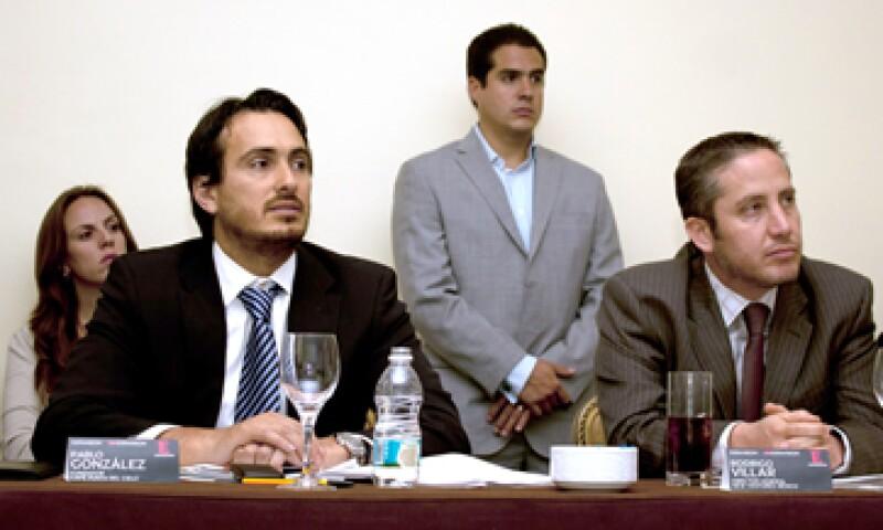 Pablo González Cid, CEO de Café Punta del Cielo, y Rodrigo Villar, director general de New Ventures México, integraron el panel de jueces de Emprendedores 2012 en la categoría Alto Potencial. (Foto: Dayan Jiménez)