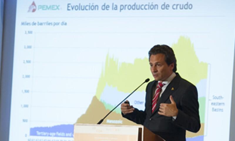 La meta es producir 3.3 millones de barriles de crudo, recordó el director de Pemex. (Foto: Cuartoscuro)