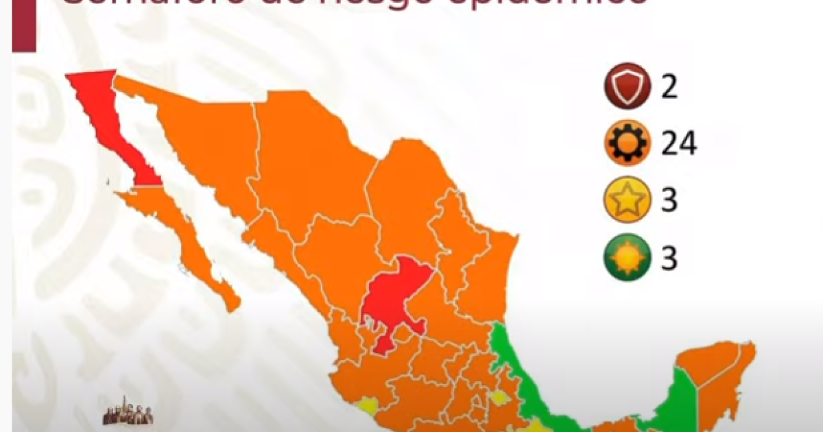 Semáforo COVID-19: Veracruz pasa a verde y 10 estados están cerca del rojo