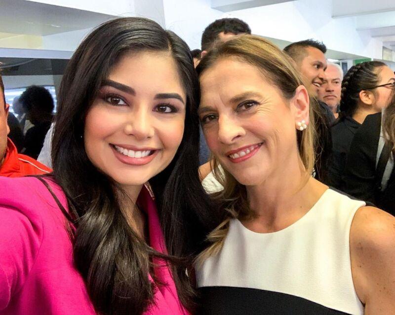 Geraldine Ponce y Beatriz Gutiérrez Müller