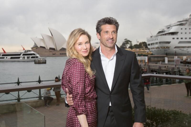 Renee y Patrick están promocionando la tercera película de Bridget Jones.