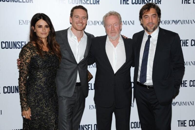"""El director Ridley Scott y parte del elenco de """"El abogado del crimen"""""""