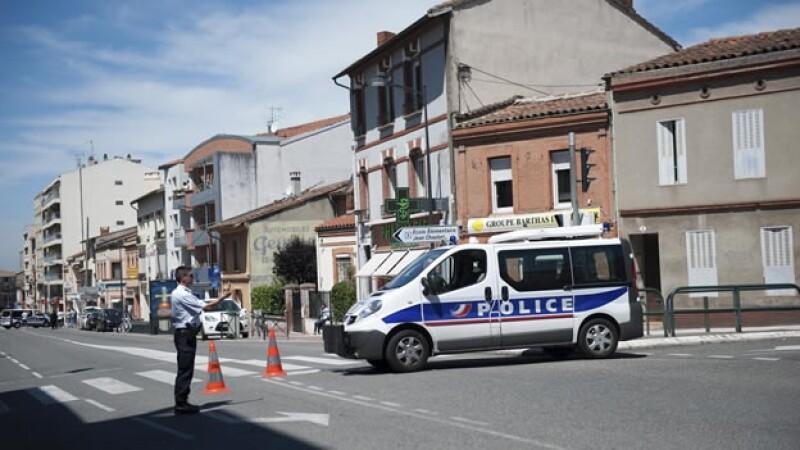 Toulouse Francia rehenes banco