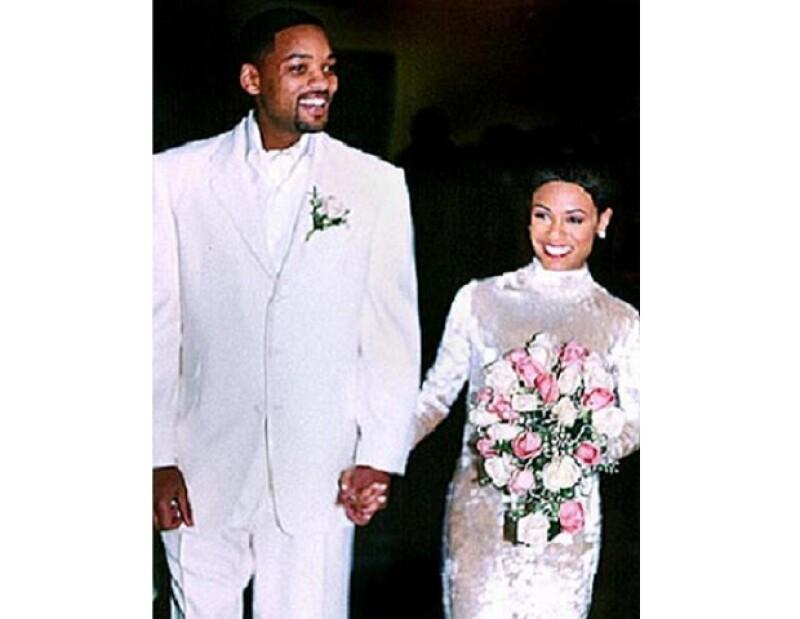 Will y Jada el día de su boda en Baltimore.