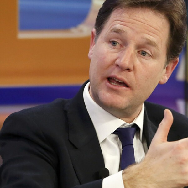El viceprimer ministro de Gran Bretaña también asistió al foro.