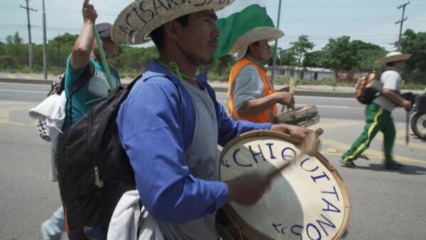 Indigenas protestan contra la política ambiental de Evo Morales
