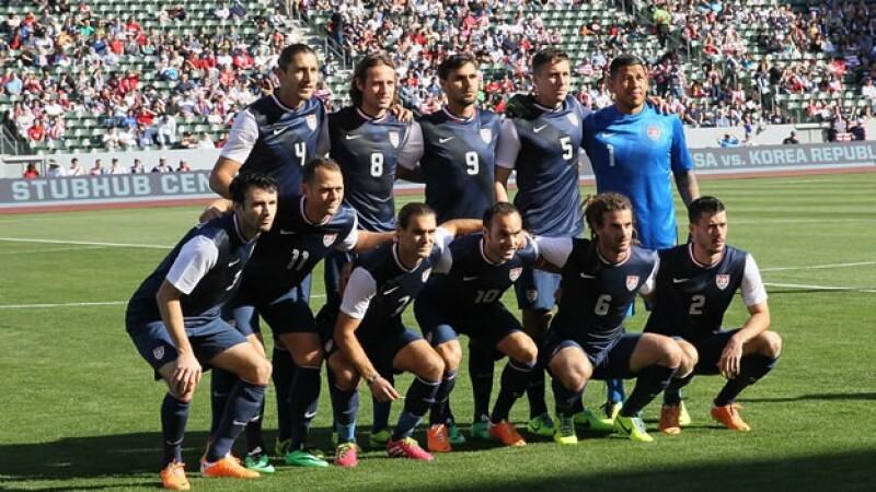 El equipo nacional de futbol de Estados Unidos que jugó en febrero