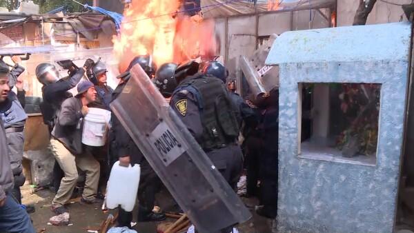 Violento desalojo en la colonia Juárez de la CDMX