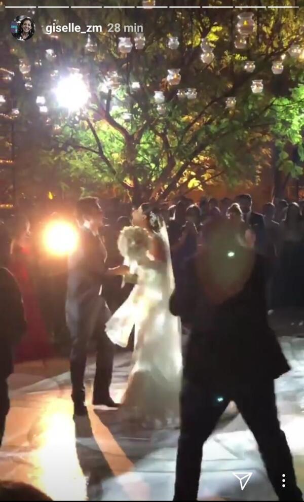 Checo Pérez y Carola en el baile de los novios