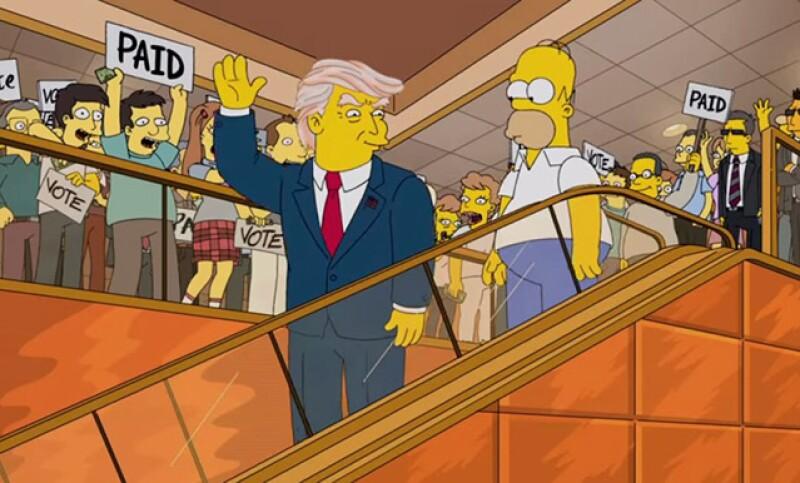 El patriarca de los Simpson termina perdido en el tupé mágico de Trump; además Ariana Grande, Diego Boneta y más estrellas se bañan en sangre y Brody Jenner se pone a hablar de sexo.