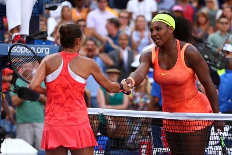 La reacción de la tenista no fue la mejor, pero Roberta ganó legítimamente y al final se dieron el famoso apretón de manos.