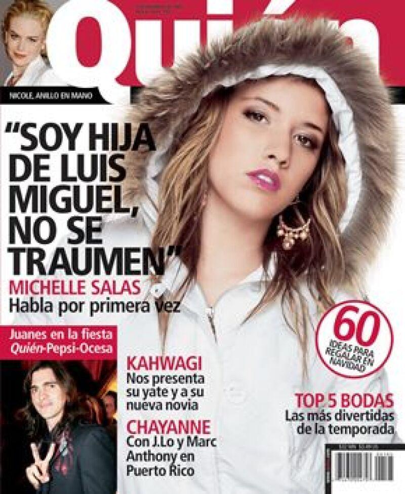 La portada en donde posó Michelle Salas y habla de su papá, se publicó en diciembre del 2005.