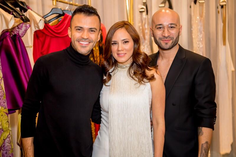 Andrés Pajón, Ángela Giraldo y Felipe Cartagena.