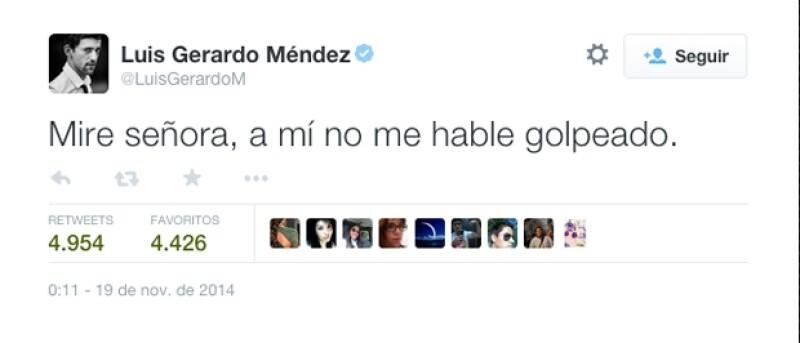 Luis Gerardo Mendez se sumó a los comentarios con su peculiar sentido del humor.