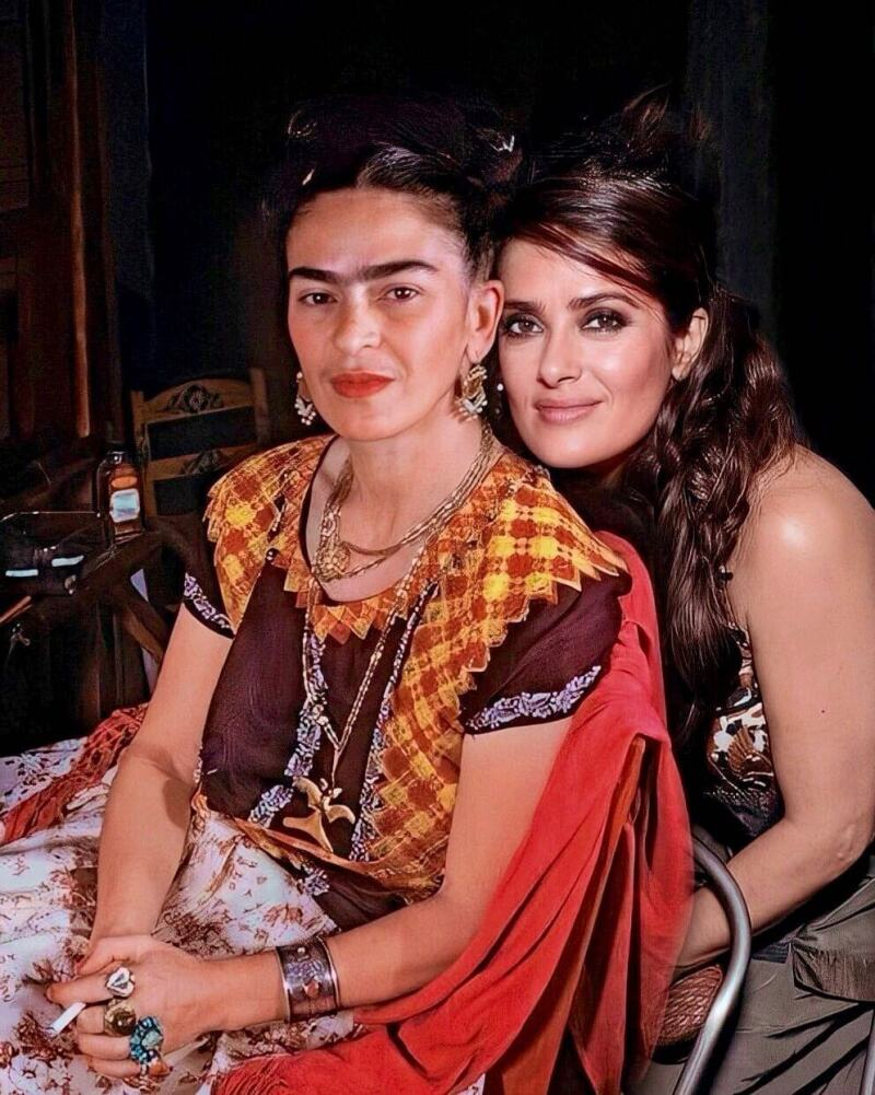 Salma HayeSalma Hayek le rindió un homenaje a la pintora mexicana, Frida Kahlo, k