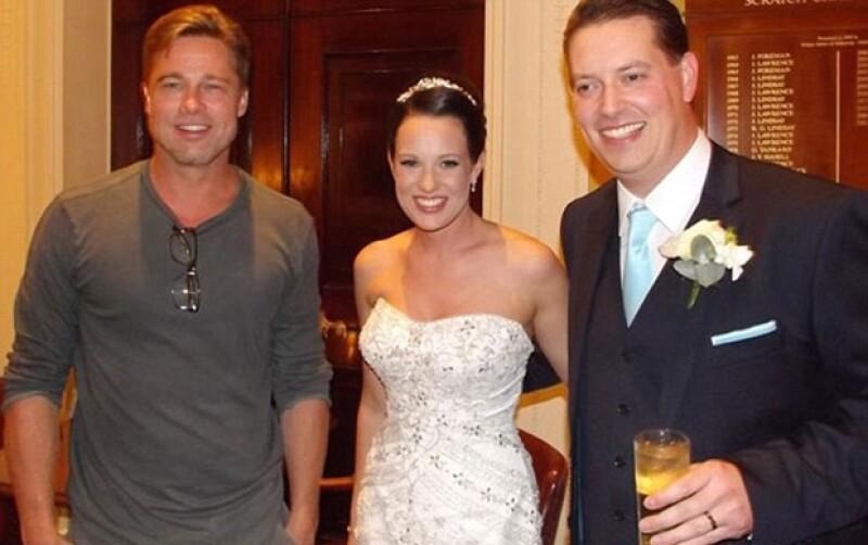 El actor quiso felicitar a una pareja que se estaba casando en el mismo hotel donde se hospeda.