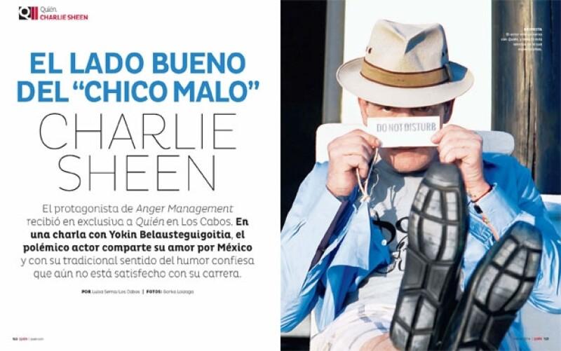 Charlie Sheen en exclusiva para Quién.