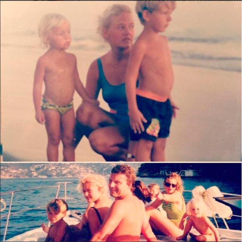 La actriz recordó a su fallecida mamá, el día que habría sido su cumpleaños, con dos fotografías de su inolvidable infancia junto a ella.
