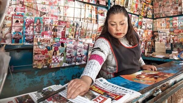 Entre revistas y periódicos.
