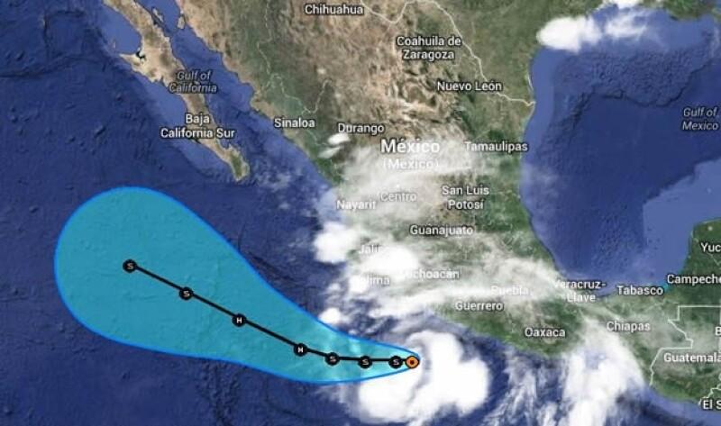 Cristina tormenta México NOAA