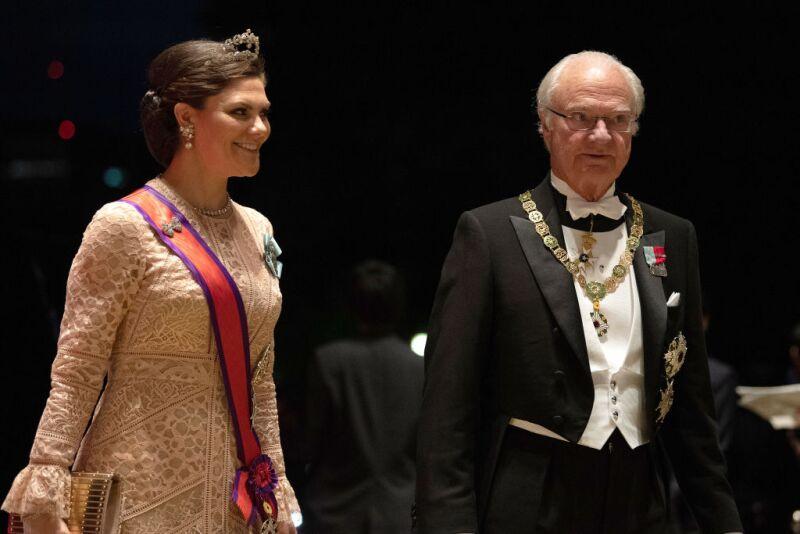Rey Carlos Gustavo de Suecia y la princesa Victoria