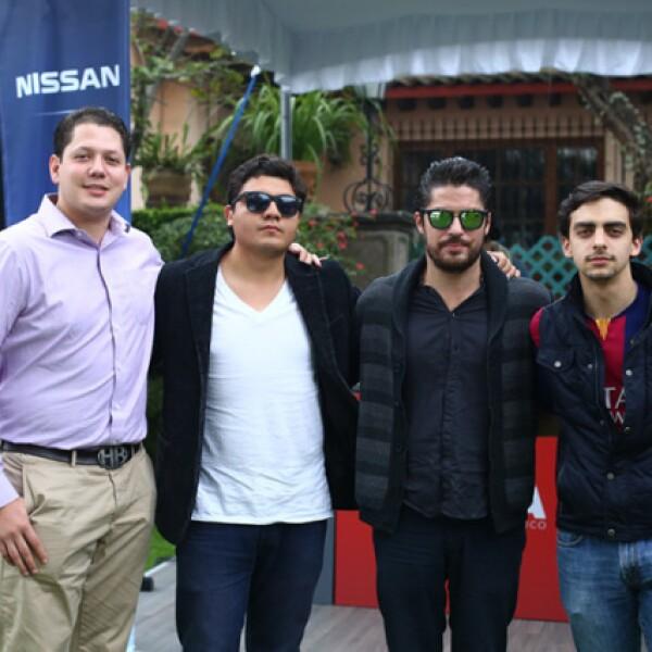 Jorge Antonio, Juan Pablo Quijano, Pablo Granados y Carlos Allende