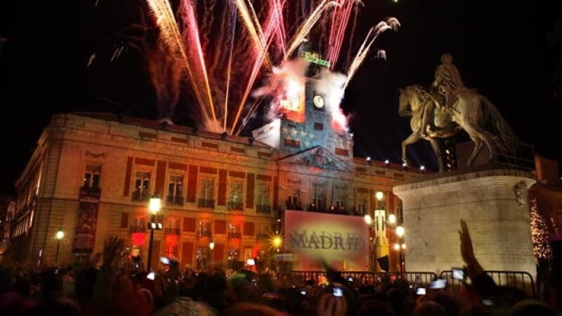 Puerta del Sol año nuevo