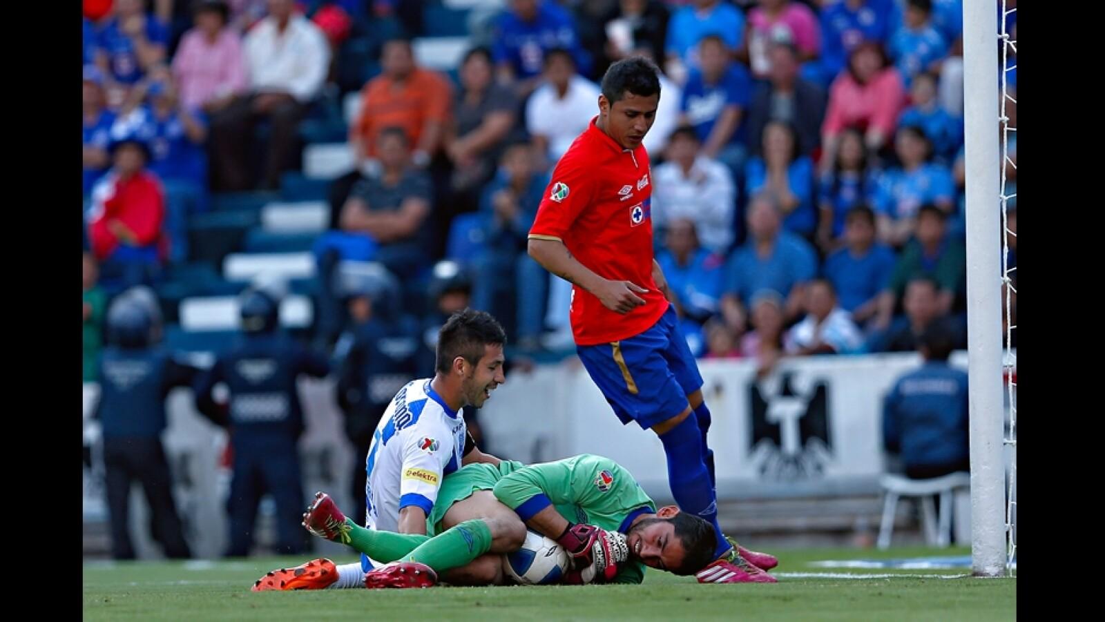 Luis Miguel Noriega de Puebla tuvo dos ocasiones claras de gol