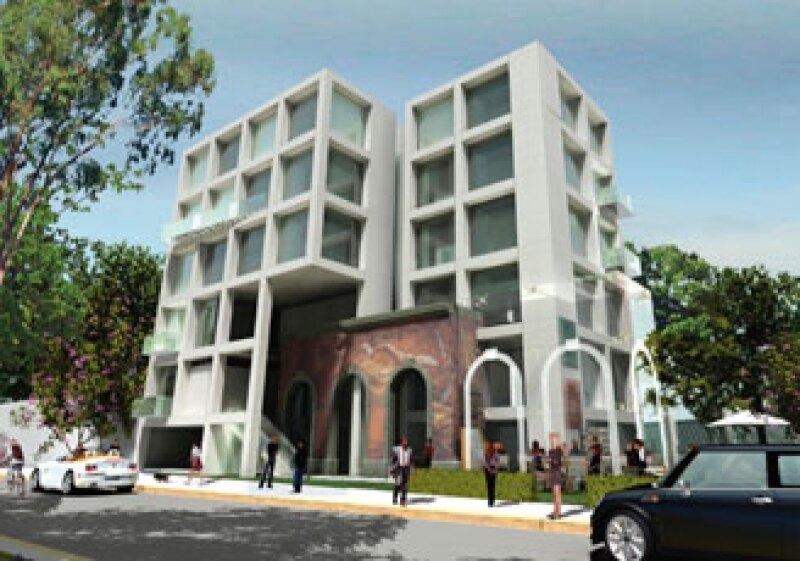 Dinámica Espacial se lanzó a la construcción de un proyecto inmobiliario que cuenta con un mural de Rafael Cauduro.  (Foto: Cortesía Dinámica Espacial )