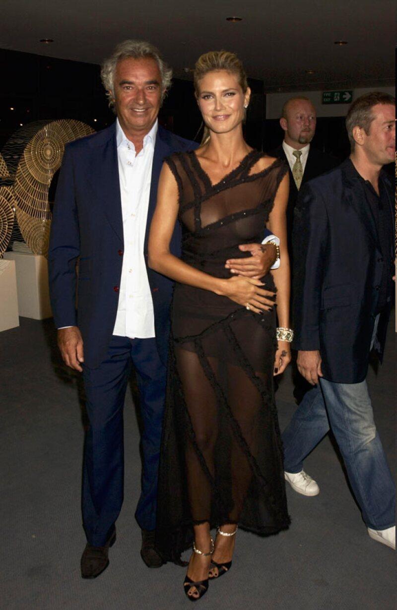 Heidi se involucró sentimentalmente con Flavio Briatori, y aunque se embarazó de él, él jamás reconoció su paternidad sino hasta muchos años después.