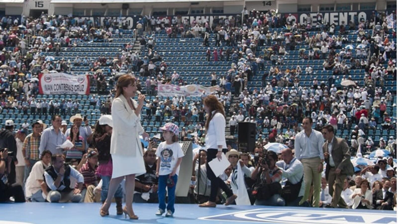 Estadio Azul toma de protesta deVázquez Mota