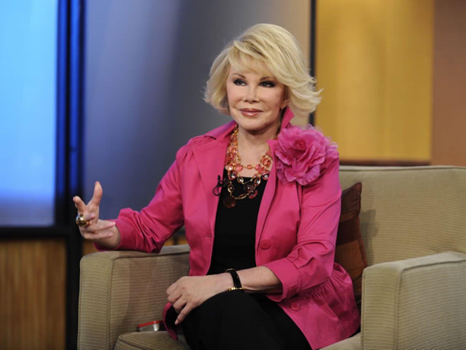 2010. Joan siempre ha sido sarcástica al hablar de su edad y es que en varias ocasiones ha comentado que detesta la vejez.